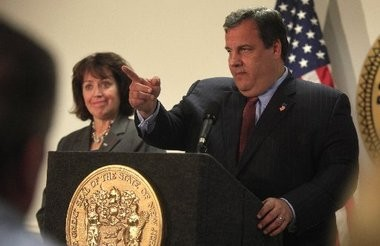 Bergen County Executive Kathleen Donovan, who is running for re-election this November, has been accused by her Democratic opponent of failing to speak out strongly against September's George Washington Bridge local access lane closures. Donovan, a former Port Authority chairman, is shown here in 2011 with fellow Gov. Chris Christie, a fellow Republican.