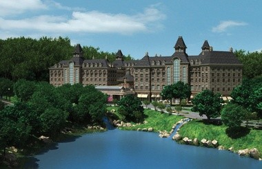 A rendering of the proposed 1.4-million-square-foot casino in Tuxedo, N.Y.