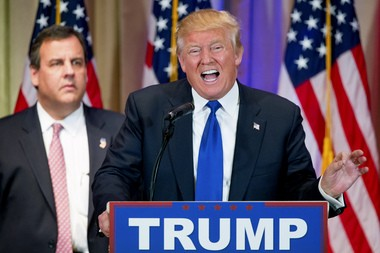 Donald Trump and. Chris Christie:Call it blatant opportunism, but Christie got ahead of the GOP establishment by endorsing the Donald.