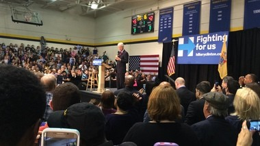 Former President Bill Clinton speaks at The College of New Jersey in Ewing on Friday.