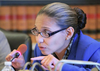 "Assemblywoman Gabriela Mosquera (D-Gloucester), seen in the 2014 file photo, said she will ""continue the fight"" for legislation that would confiscate firearms from domestic abuse offenders."