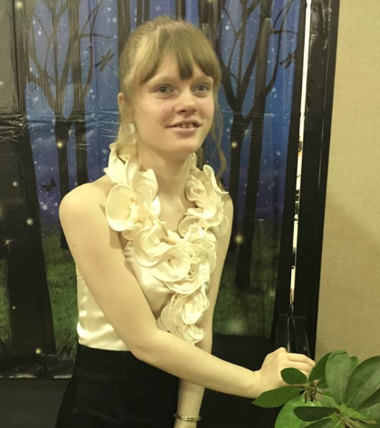 Genny Barbour, 17, seen in this photo taken last month, uses edible marijuana oil her mother makes to reduce the severity and frequency of her seizures. (Photo Courtesy of Barbour Family)