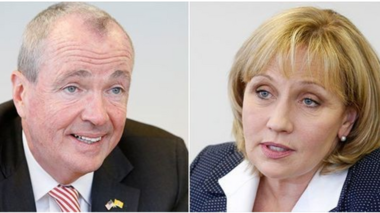 Democrat Phil Murphy (left) and Republican Kim Guadango (right) are the major-party candidates running to succeed Chris Christie as New Jersey's governor.