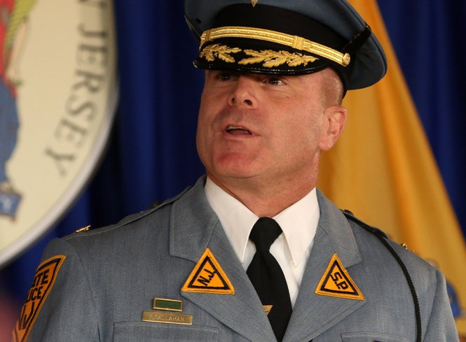 Patrick Callahan is sworn in as acting superintendent of the New Jersey State Police on Oct. 31.