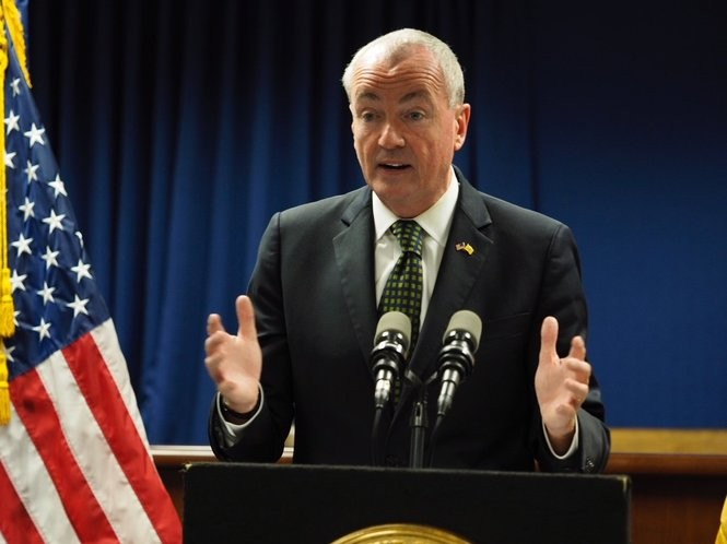 Gov. Phil Murphy speaks at a press conference in Newark on Monday about rape allegations made against a former staffer. (Patti Sapone | NJ Advance Media for NJ.com)