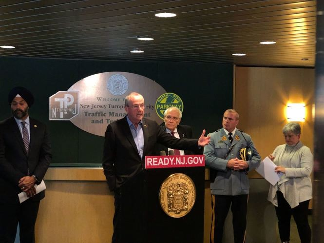 N.J. Gov. Phil Murphy addresses the state's response on Friday to a snowstorm that paralyzed much of North Jersey on Thursday.
