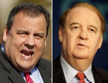 Gov. Chris Christie blames State Sen. Richard Codey (right) for backlog of judicial appointments in Essex County. Codey says Christie has a problem with the truth.