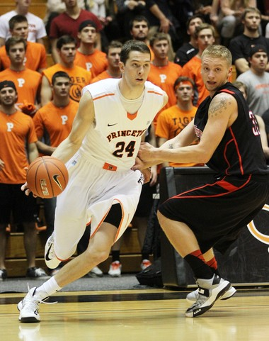 Will Barrett, left, finished with 24 points as Princeton University downed Dartmouth Saturday.