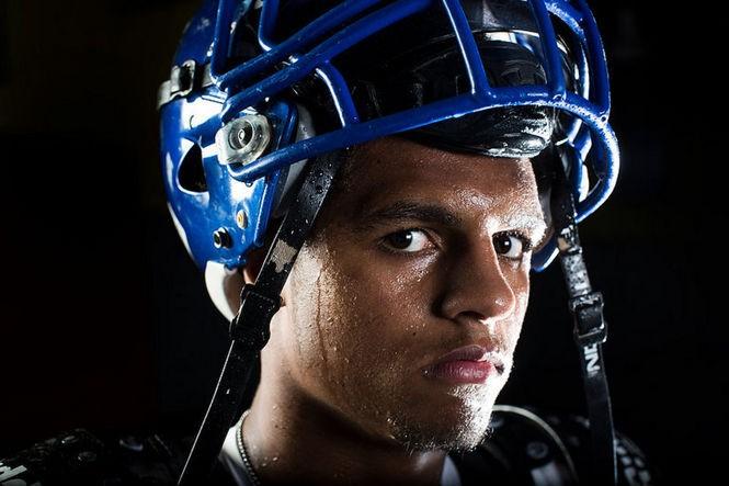 Portrait of Josh McKenzie, the nation's top ranked incoming freshman football player and wrestler. (Andrew Mills   NJ Advance Media for NJ.com)