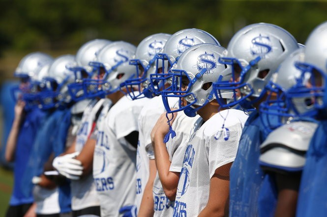 The Sayreville High football team and coaches returned to their field, Monday, August 17, 2015, for first official practice of 2015 season. (Saed Hindash | NJ Advance Media for NJ.com)