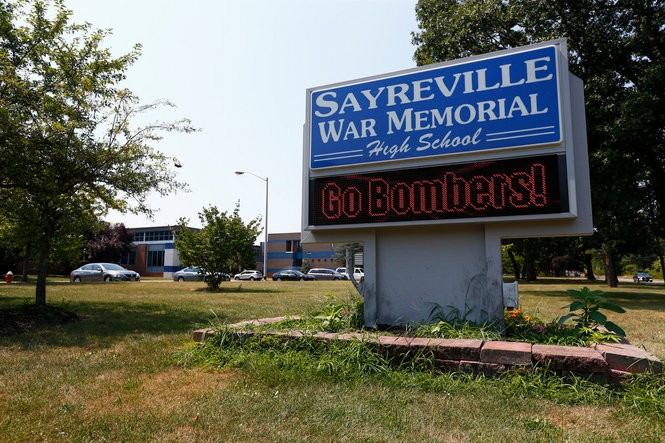 Sayreville High School's football team looks forward to their new season together, following last years hazing scandal. (Saed Hindash | NJ Advance Media for NJ.com)