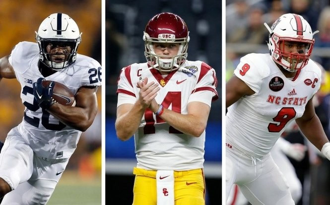 d7eea9a4f08 Latest NFL Mock Draft 2018: 2-round projections | Will Jets really take  Baker Mayfield? Is Saquon Barkley 'inevitable' to Giants? How far will Josh  Rosen ...