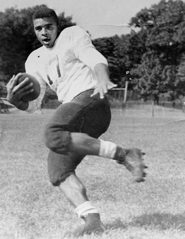 Montclair's Aubrey Lewis, offensive football player of the century, in a 1952 photo. (Star-Ledger file photo)