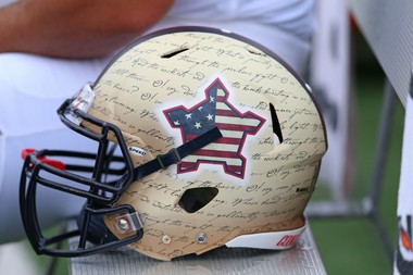 Maryland players wore customized patriotic helmets for a game this season.