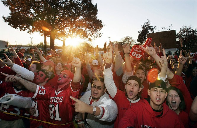 Fans gather as they wait to enter the stadium before the 2006 Louisville game. The anticipation for the matchup against the No. 3 Cardinals had consumed the campus for the days leading up to the Thursday night kickoff.