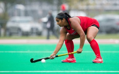 Sofia Walia has played in 64 field hockey games since arriving at Rutgers in 2013.