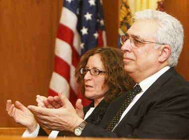 Superior Court Judge David E. Krell, right, and his wife, Anne Graziano Krell, are seen in this file photo at Krellâs swearing-in ceremony as a Superior Court judge on Jan. 21, 2010 in Salem.