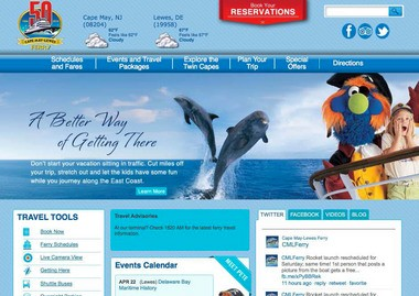 Cape May-Lewes Ferry unveils new website with interactive social