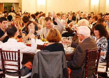 Business owners celebrate their success with a champagne toast during the 2012 Best of Salem County Awards Banquet.