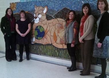 The Pittsgrove Township School District announces a fully-executed articulation agreement with Rowan University involving our Theatre Academy at Arthur P. Schalick High School. Pictured from left to right is â Wendy Mapes, theater academy teacher at Schalick, Kerri Sullivan, director of arts education & outreach at Appel Farm, Melanie Stewart, Rowan University Associate Dean of the College of Performing Arts, Donna Meyers, principal at Schalick, and Elisabeth Hostetter, chair of Rowan University Department of Theatre and Dance. (Staff Photo by Brittany M. Wehner)