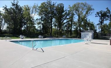 The pool at Segal & Morel's Riverview Estates.