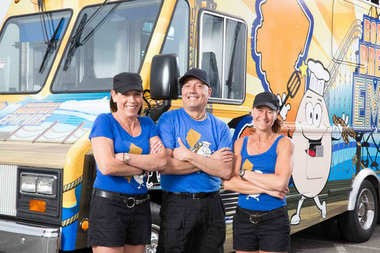 """Joanne Garelli, left, lost her Sea Bright restaurant in Hurricane Sandy, but she and two friends will be part of the Food Network's """"The Great Food Truck Race,"""" airing later this summer."""
