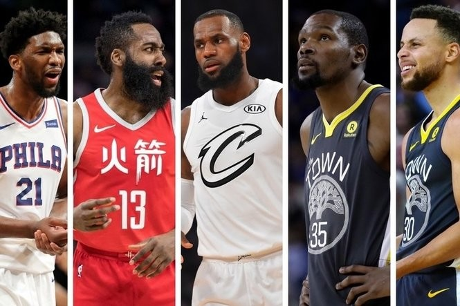 fa6a0cf5 NBA Awards: Sixers' Joel Embiid in MVP mix with Rockets' James Harden,  Cavaliers' LeBron James, Warriors' Kevin Durant and Stephen Curry?