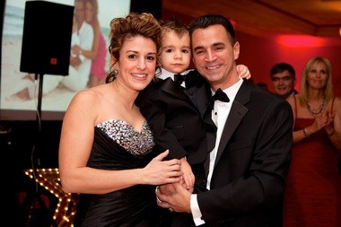 Danielle Yenish, left, A.J., and Adam Yenish at the Raise Your Glass Foundation Winter Gala.