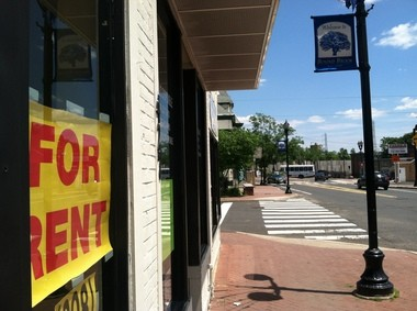 One of the vacant storefronts seen last week in Bound Brook's downtown.