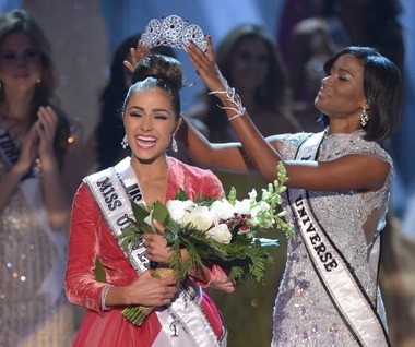 Miss USA Olivia Culpo crowned Miss Universe in this 2012 photo.