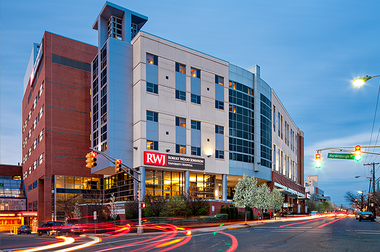 Robert Wood Johnson Hospital in New Brunswick, pictured above, is part of the merger that was completed today that will create the largest hospital network in the state. (Courtesy of Robert Wood Johnson University Hospital)