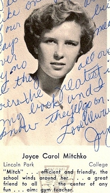 Joyce Sheridan's picture from her Boonton High School yearbook.