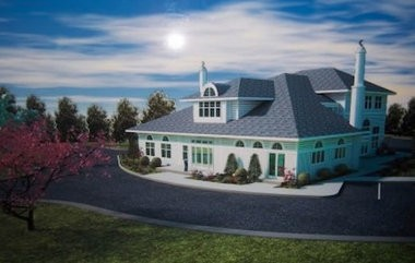 Artist's rendering of the proposed mosque. (Courtesy of Patterson Belknap Webb & Tyler LLP)