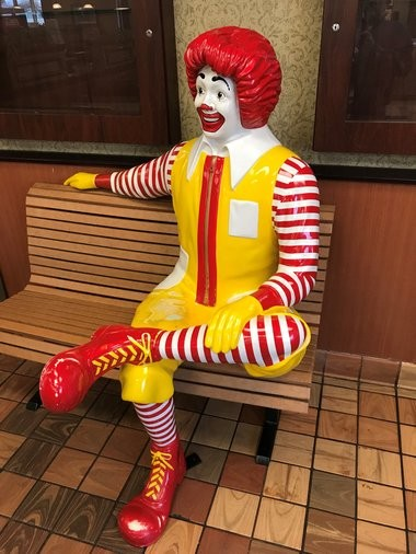 Ronald McDonald statue that was stolen from Hunterdon McDonald's located on Center St. (Courtesy of Koury family)