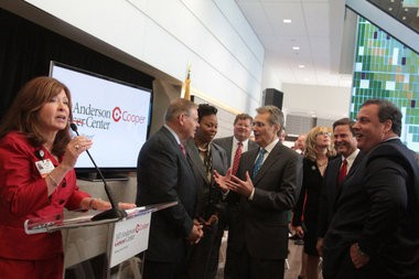 Grand opening of MD Anderson Cancer Center at Cooper in Camden, Monday, Oct. 7, 2013. (Staff Photo by Britney Lillya/South Jersey Times)