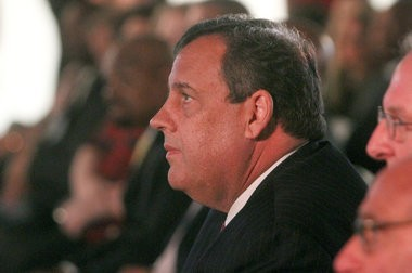 Gov. Chris Christie appears in Camden recently.