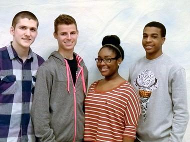 Delsea Regional High School scholarship winners are, left to right, Sean Klei, Nick Ellen, Marnesha Hall and Josh Weaver.