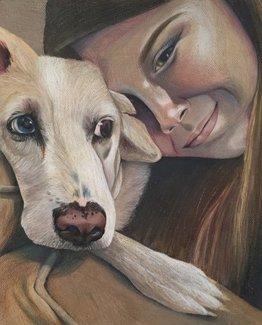 Pictured, 'Best Friends,' by Grace Carpenter of A.P. Schalick High School, was awarded Best of Show.