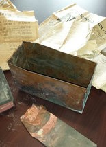 A time capsule was discovered under the Children's Fresh Air Home during renovations.