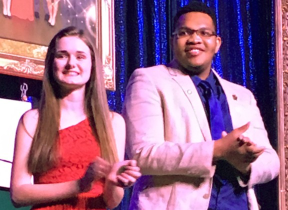 Newly elected NJ FBLA State Officers for 2017-2018: Jessica Landolfi, president; and Starrchild Jackson, southern region vice president.