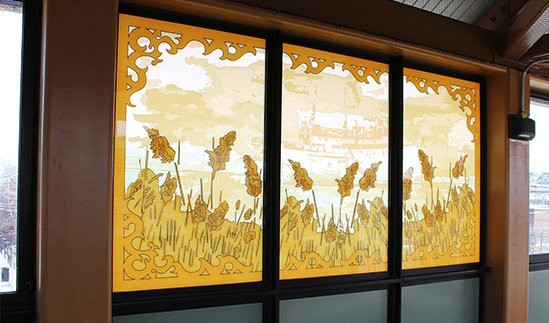 The artwork of Jenna Lucente is permanently featured at the newly opened Arthur Kill Station on the Staten Island Railway.