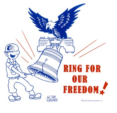 On July 4, at 2 p.m., wherever you happen to be, ring a bell or jiggle your keys.