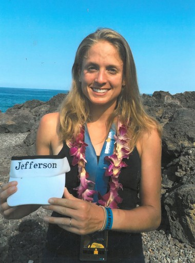 Emily Sherrard at the Ironman competition in Hawaii last year. She is a fourth-year medical student at Sidney Kimmel Medical College at Thomas Jefferson University. (Submitted photo)
