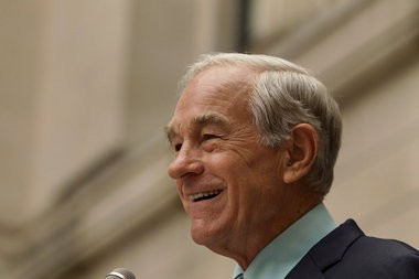 Ron Paul campaigns outside the Statehouse in Trenton in 2011: The most principled man in America has soured on Ted Cruz.