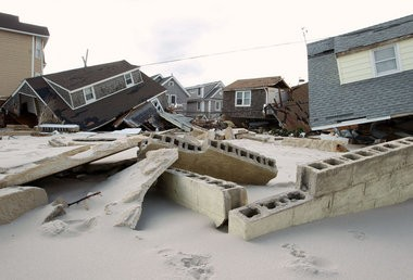 Homes were left twisted and mangled in Ortley Beach after Hurricane Sandy tore through the area in October 2012. The Hurricane Sandy New Jersey Relief Fund, chaired by New Jersey First Lady Mary Pat Christie, has raised more than $32 million, but storm victimis have yet to receive the aid.