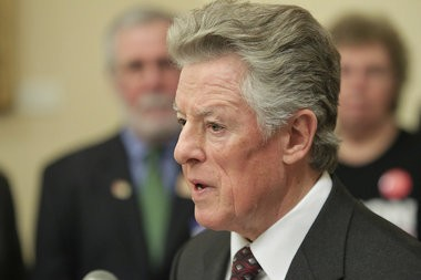 Former Gov. Jim Florio, seen on Feb. 25 at a press conference calling for stricter gun laws, claims there are more than 300 million firearms in the country. 2/25/13 (John O'Boyle/The Star-Ledger)