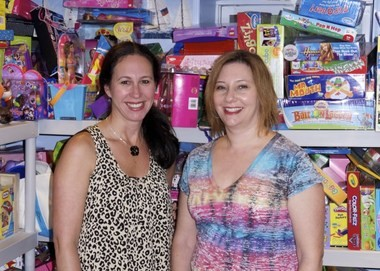 The Birthday Box, run by Westfield residents Stacy Bergerman (left) and Jennifer Wilner (right).