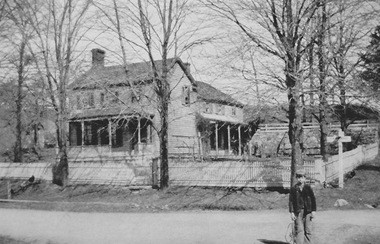 A vintage photo of the Levi Cory house as it appeared in the early 1900s.