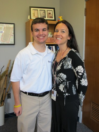 Will is pictured with Union Catholic Director of Guidance Jennifer Dixon, who empowered Will and helped him to make his dream conference a reality.