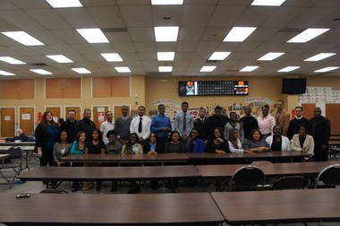 Twenty-five members of the Lords & Ladies Program at Boys & Girls Clubs of Union County had their first introduction to life after high school by participating in 'Mock Interview Day' at the Union Club. Pictured are teens with interviewers. (courtesy photo)